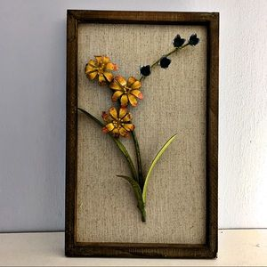 FRAMED 3-D METAL FLOWERS
